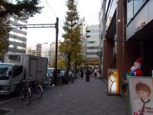 ビル前の駒沢通り